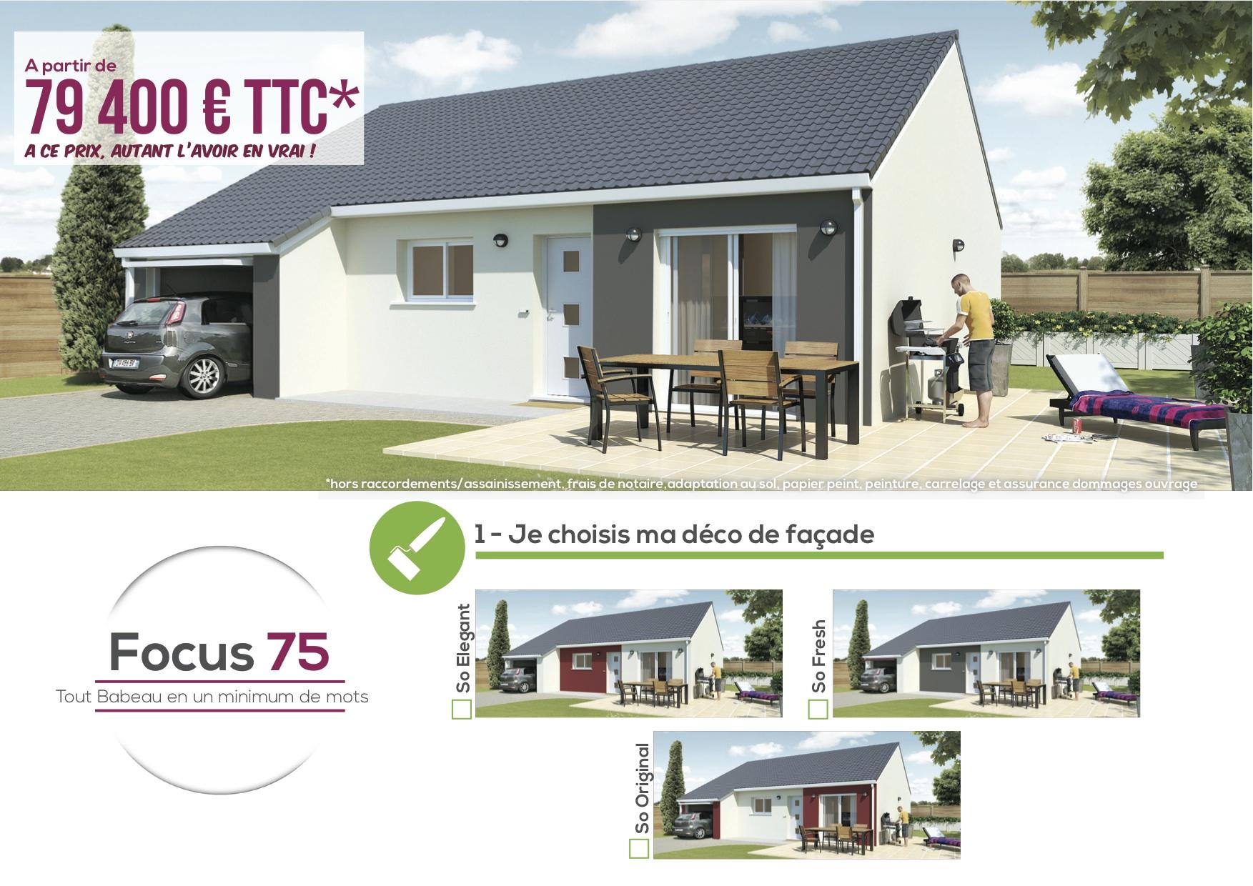 maisons focus constructeur de maisons moins ch res. Black Bedroom Furniture Sets. Home Design Ideas