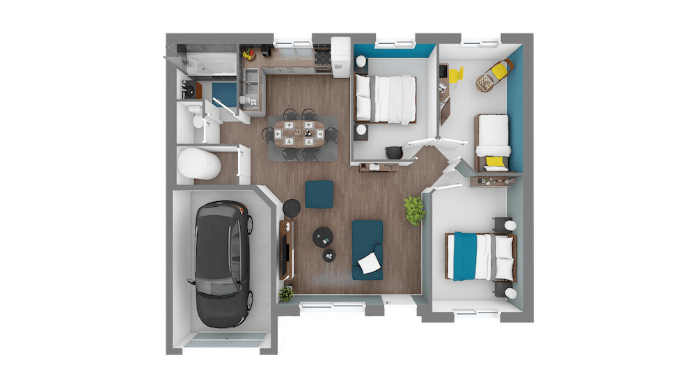 Focus 75 Plan Maison Low Cost 3 Chambres